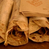 Photo taken at The Kati Roll Company by Nathan R. on 4/5/2013