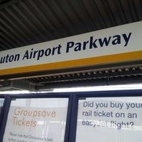 Photo taken at Luton Airport Parkway Railway Station (LTN) by Kerwin M. on 3/4/2013