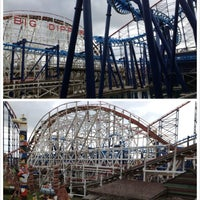 Photo taken at Blackpool Pleasure Beach by Jie Y. on 3/26/2013