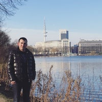 Photo taken at Alster Running Trail by Onur A. on 1/27/2017