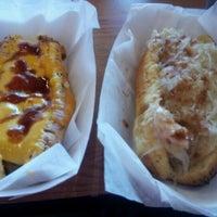 Photo taken at Dog Days Chicago Hotdogs by Mark R. on 10/23/2012