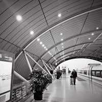 Photo taken at Maglev Train Longyang Road Station by Anson L. on 2/8/2013