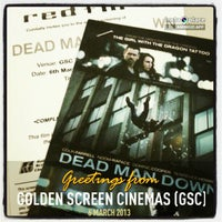 Photo taken at Golden Screen Cinemas (GSC) by Claude H. on 3/6/2013