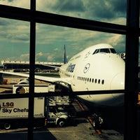 Photo taken at Lufthansa Flight LH 419 by Lukas on 6/22/2014