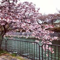Photo taken at 冷泉橋 by Naoki M. on 4/14/2013