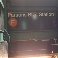 Photo taken at MTA Subway - Parsons Blvd (F) by Marcus on 4/14/2015