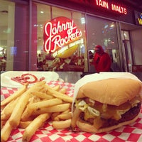 Photo taken at Johnny Rockets by Hammad A. on 2/16/2013