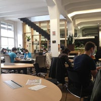 Photo taken at Impact Hub Praha by Veronika P. on 11/25/2012