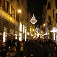 Photo taken at Via del Corso by Lucalik on 12/16/2012