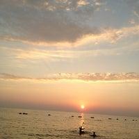 Photo taken at Dongtan Beach by Batoul B. on 1/11/2013