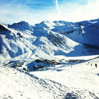 Photo taken at Tignes by Светлана П. on 1/7/2013
