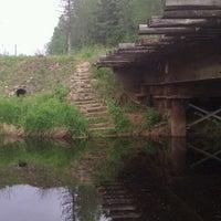 Photo taken at р. Войтоловка by Evgeniy K. on 7/28/2013