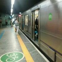 Photo taken at Estação Jabaquara (Metrô) by Thaís R. on 11/5/2012