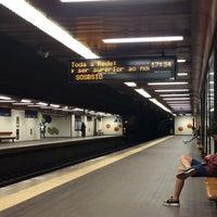Photo taken at Metro Laranjeiras [AZ] by Maria R. on 3/16/2017