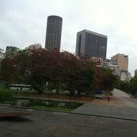 Photo taken at Jardim do MAM by Deborah S. on 10/26/2012