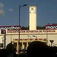 Photo taken at Estadio Olimpico Atahualpa by Carlos Andres F. on 1/7/2013