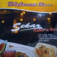Photo taken at Sekar cafe n Resto by missdy on 7/31/2014