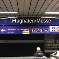 Photo taken at S Flughafen/Messe by David S. on 3/22/2017