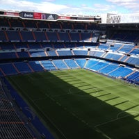 Photo taken at Santiago Bernabéu Stadium by Yasya K. on 5/9/2013