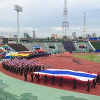 Photo taken at Royal Thai Army Stadium by Tony T. on 6/5/2013