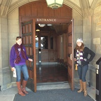 Photo taken at Deering Library by Babs Z. on 10/27/2012