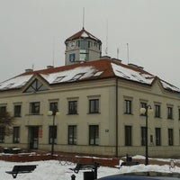 Photo taken at Rynek w Serocku by Mikhail L. on 2/14/2013