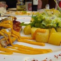 Photo taken at Restaurant Els Ponts by Daniel V. on 10/23/2012