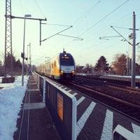 Photo taken at Bahnhof Bad Wilsnack by HZ on 3/16/2013