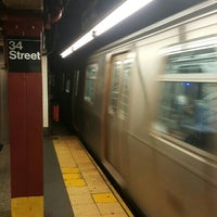 Photo taken at MTA Subway - 34th St/Penn Station (A/C/E) by James S. on 5/4/2016