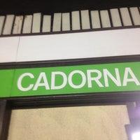 Photo taken at Metro Cadorna FN Triennale (M1, M2) by Rebecca A. on 8/24/2013