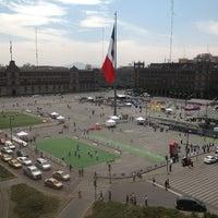 Photo taken at Plaza de la Constitución (Zócalo) by Othon L. on 4/11/2013
