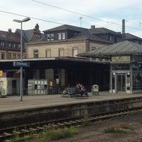 Photo taken at Bahnhof Offenburg by Dirk B. on 8/27/2013