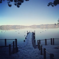 Photo taken at Tahoe Park Homeowners Beach by Kenneth B. on 1/20/2013