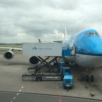 Photo taken at KLM Airlines - Flight KL0643 (AMS > JFK) by Cynthia D. on 6/24/2017
