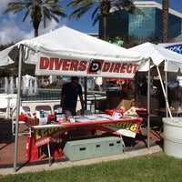Photo taken at Divers Direct Booth at Lauderdale Live Music Festival by Yolanda L. on 12/8/2013