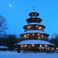 Photo taken at Biergarten am Chinesischen Turm by Robert R. on 1/23/2013