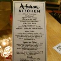 Afghan Kitchen Menu London