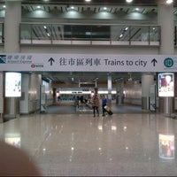 Photo taken at MTR Airport Station by Edwin F. on 1/17/2013