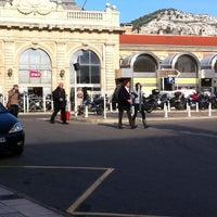 Photo taken at Gare SNCF de Toulon by Marine M. on 11/14/2012