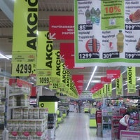 Photo taken at Auchan Fehér tó by Goran on 7/6/2014