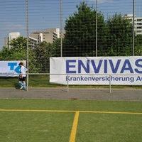 Photo taken at Fussball-Anlage Köln Salzburger Weg Kunstrasenplätze by Karlheinz E. on 6/8/2013