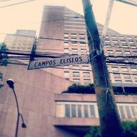 Photo taken at Av. Campos Elíseos by Aram D. on 6/24/2013