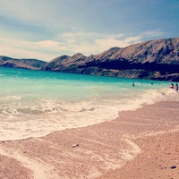 Photo taken at Baška Beach by tretina t. on 7/6/2013