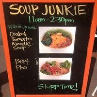Photo taken at Soup Junkie by Jennifer B. on 3/25/2013