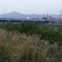 Photo taken at 군자교 by Peter Minho H. on 7/19/2014