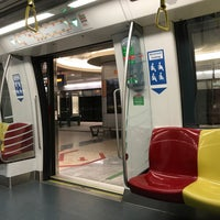 Photo taken at Marina Bay MRT Interchange (NS27/CE2) by Noel T. on 4/8/2017