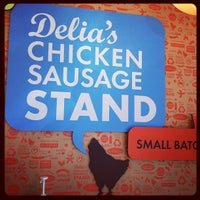Photo taken at Delia's Chicken Sausage Stand by Mike A. on 10/14/2011