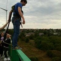 Photo taken at Мост для прыжков над р. Смотрич by Алексей В. on 8/11/2012