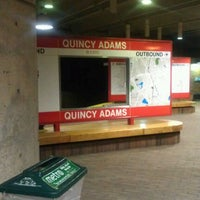Photo taken at MBTA Quincy Adams Station by Jake S. on 1/26/2012