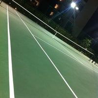 Photo taken at Tennis Court@Waterfront Wave by Hoe K. on 5/31/2012